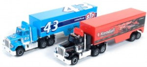 Richard Petty and Kendal trucks